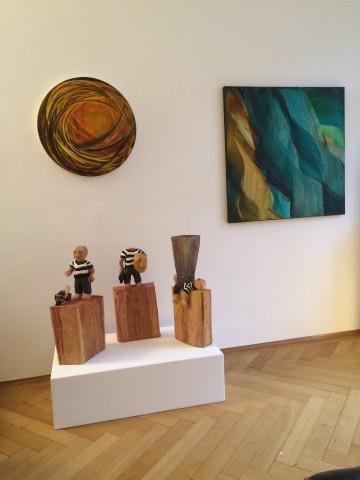 Arbeiten von Isa Dahl und Daniel Wagenblast aus der Ausstellung im Jahr 2015.